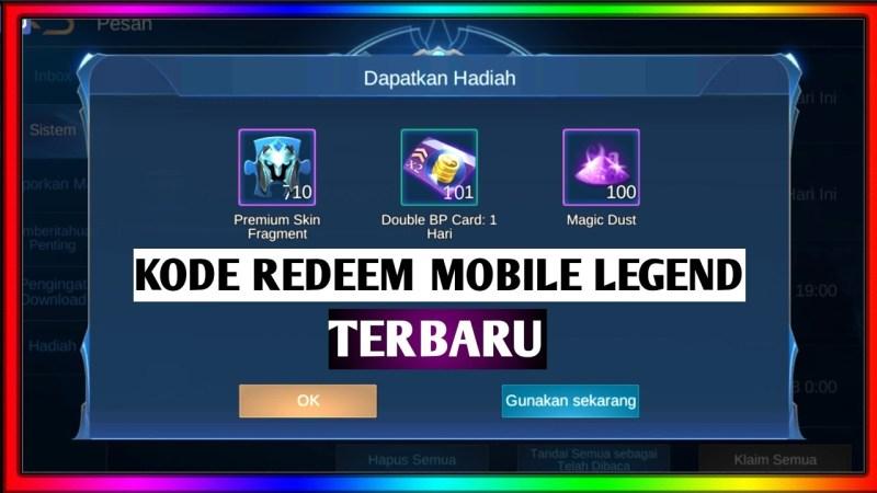 Kode Redeem Mobile Legends (ML) Terbaru di Maret 2020