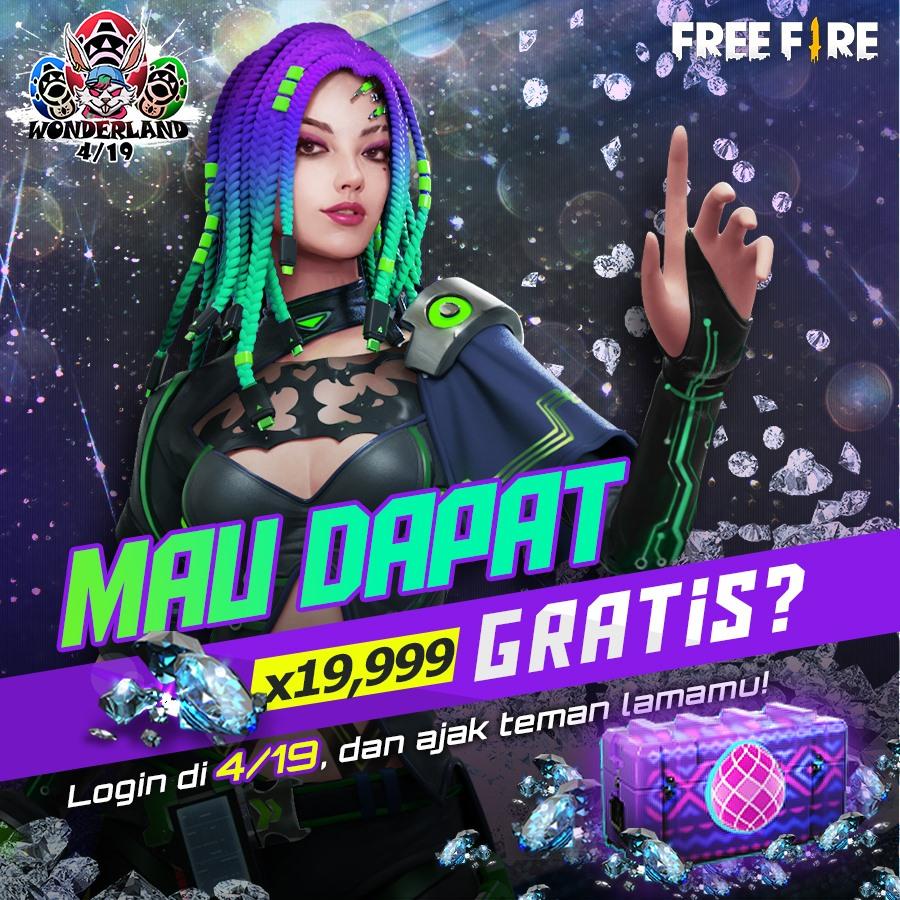 Event Call Back Free Fire Ff Bagikan 19 999 Diamond Gratis