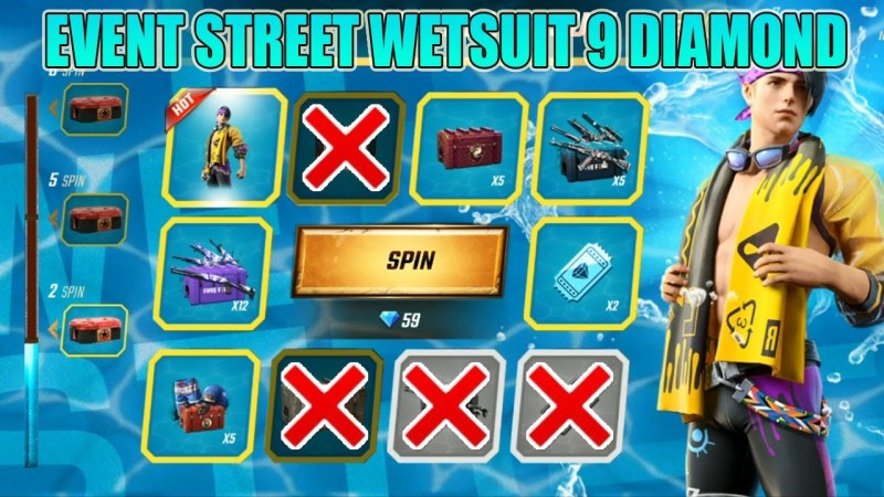 Event Spin Free Fire (FF) Bagikan Bundle Street Wetsuit
