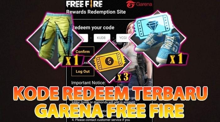 Kode Redeem Free Fire Ff Terbaru Januari 2021 Gratis