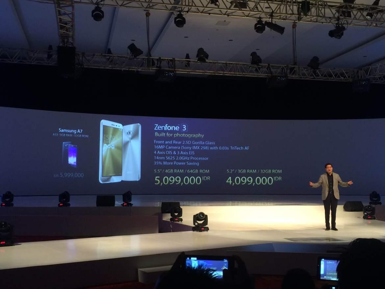 Launching Asus Zenfone 3 di Indonesia. Foto : Istimewa