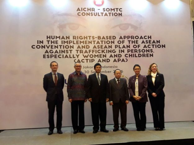 ASEAN Intergovernmental Commission on Human Rights (AIHCR) di Hotel Le Meredien, Jakarta, Kamis, (29/09/2016)