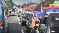 suasana arus mudik lebaran di kawasan Padang Panjang. Dok.Kabarpadang.com