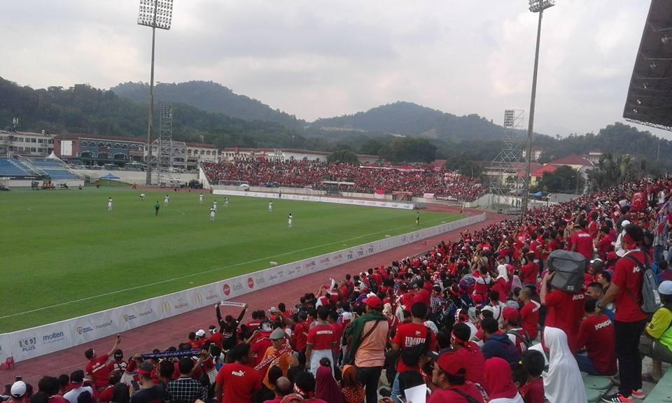 Pertandingan sepak bola Indonesia dan Timor Leste pada SEA GAMES 2017, di stadium Selayang, kuala Lumpur, Malaysia. Photo : Firdaus D