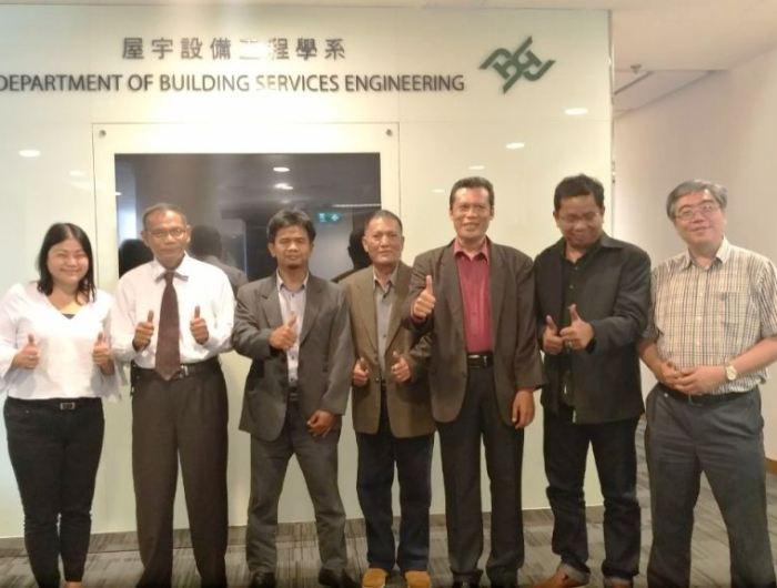 Pertemuan sekaligus kunjungan dosen dari Universitas Bung Hatta ke Departement of Building Service Engineering The Hong Kong Polytechnic University (PolyU), di Hung Hom, Kowloon, Hong Kong