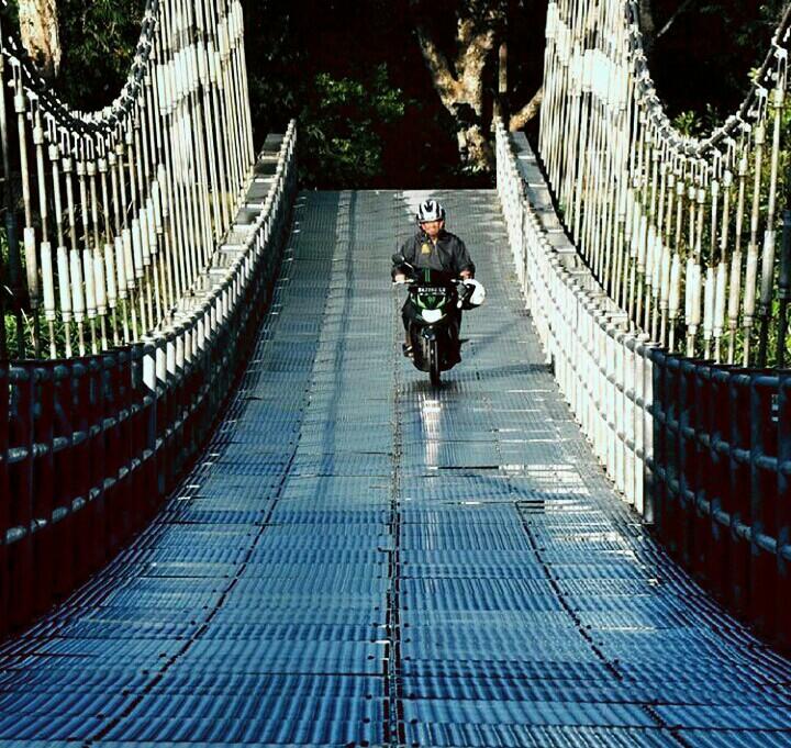 jembatan guguak di Kabupaten Agam, Sumbar hasil kerja nyata Presiden Joko Widodo/photo : IG.Ianpilang