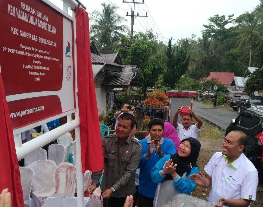 Peresmian Kawasan Ekonomi Masyarakat Lubuk Gadang Selatan di Kabupaten Solok Selatan.