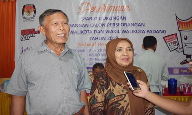 Bakal Pasangan Calon Pilkada Padang Syamsuar Syam dan Misliza