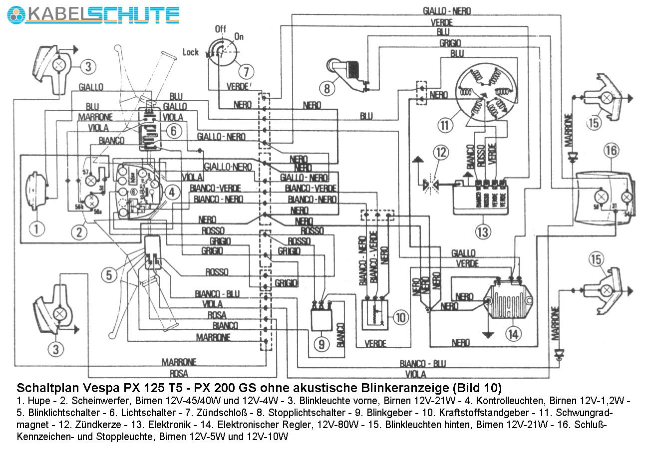 Vespa Wiring Schematic