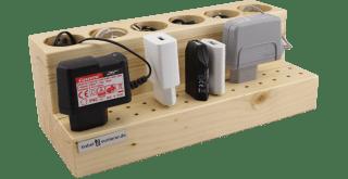 Kabel und Stecker in einem Kabelsortierer