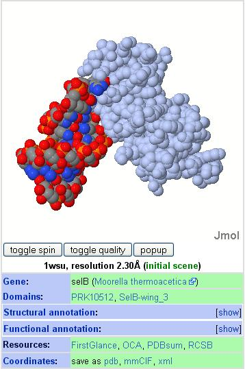 Screen shot of this month's molecule
