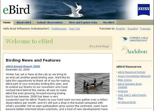 eBird Home Page
