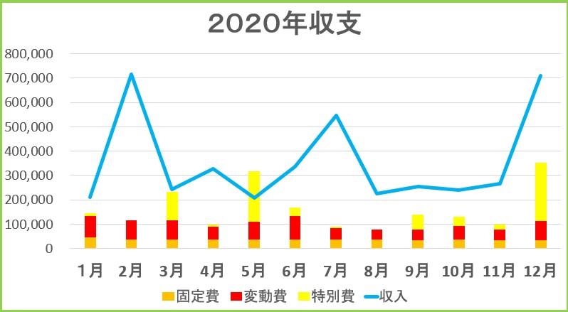 2020年年間収支