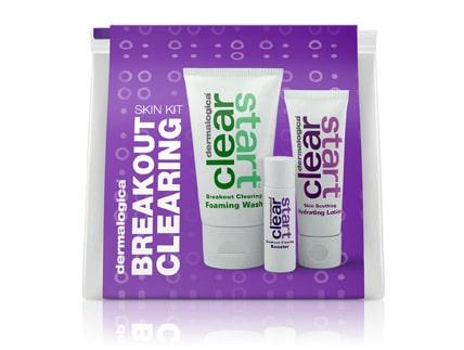 Dermalogica Clear start Breakout Clearing Kit Kabuki Hair