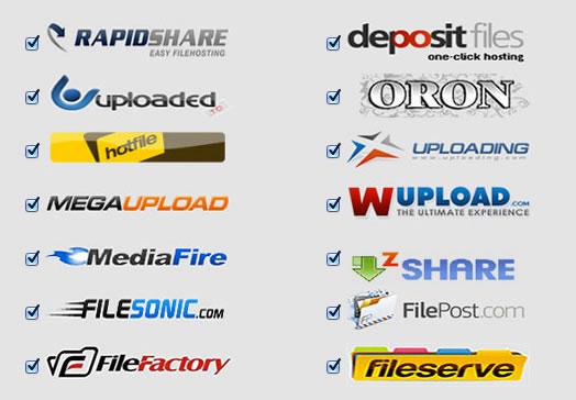 Subir archivos al mismo tiempo a Megaupload, Rapidshare y más