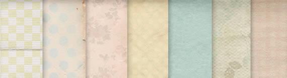 Vista previa de texturas variadas en colores pastel