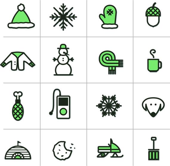 Iconos de invierno
