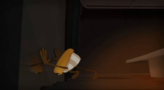 Screenshoot de Paddy Pan, corto de animación