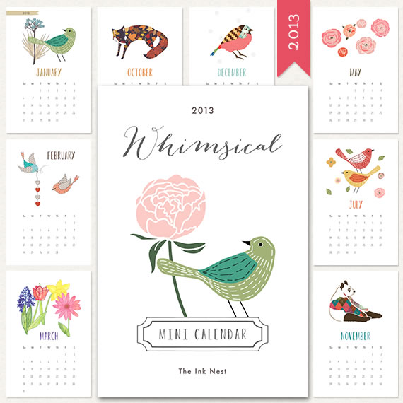 Whimsical Mini Calendar