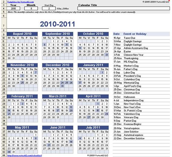 Calendarios para imprimir (2/6)