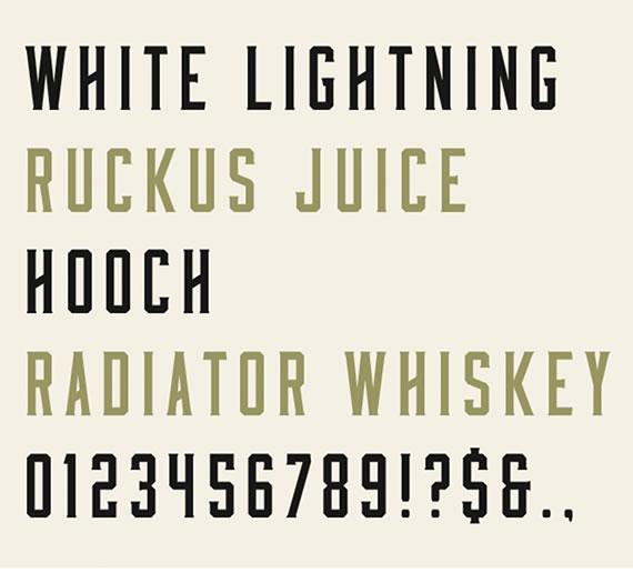 Moonshine Typeface