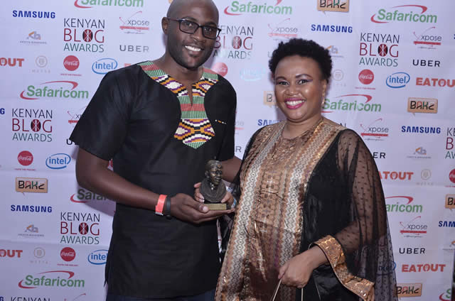 Brian Mungei from Safaricom awarding lifeinmombasa