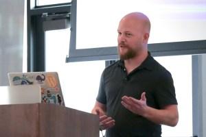 Shawn Hooper presenting at LoopConf 2018