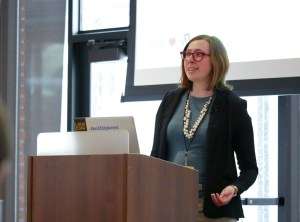 Ashley Kolodziej presenting at LoopConf 2018