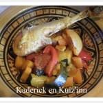 Tajine de poulet aux légumes et citron confit avec des épices pour une cuisine orientale