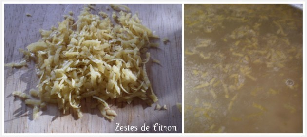 Préparation sorbet citron avec des zestes de citron bio sur ©Kaderick en Kuizinn
