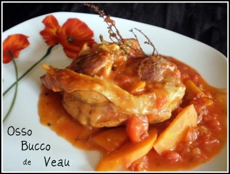 Recette ossao bucco de veau en sauce tomate