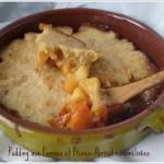 Dessert bio-Pudding aux pommes et prunes-abricots caramélisés