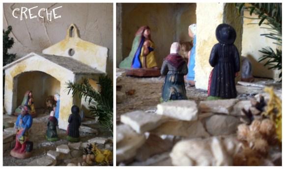 Traditions Provençale-La creche du village provençal avec les santons