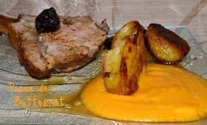 Recette du carré de veau à la purée de butternut et des pommes de terre façon Jamie Oliver