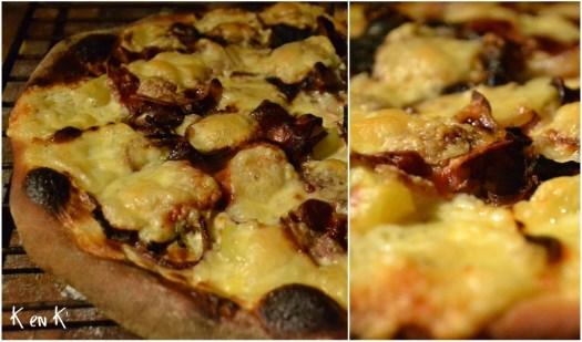 recette de la pizza raclette à la crème fraîche, pomme de terre et fromage raclette