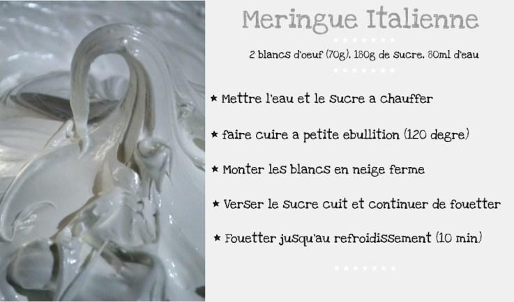 Recette de la meringue Italienne pour la tarte au citron garnie de lemon curd et recouverte de meringue italienne