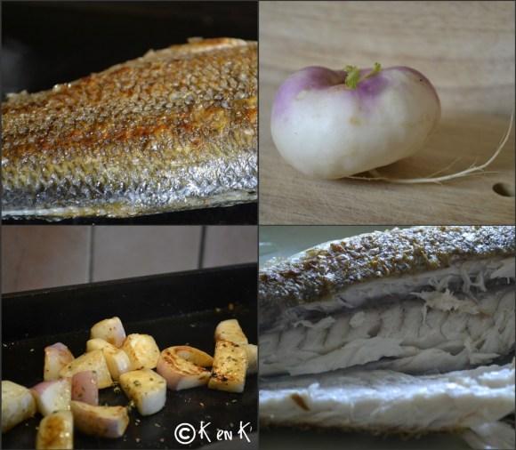 Cuisson du bar à la Plancha et navets bio nouveaux, une recette saine et équilibrée sur le blog de ©Kaderick en Kuizinn