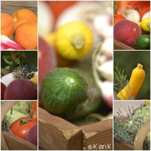 theme 24 nourriture avec différents légumes bio