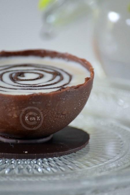 Recette des demi-sphère au chocolat à la glace au chocolat blanc - vos recettes préférées