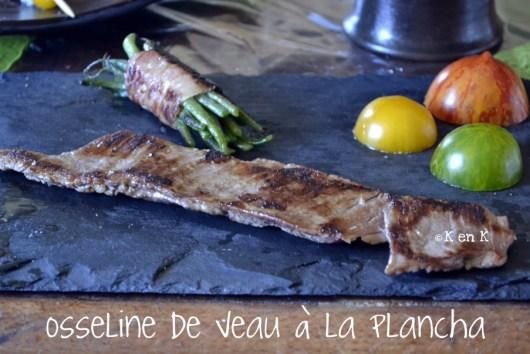 recette de viande, osseline de veau cuite à la plancha