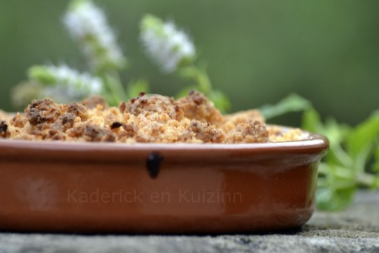 Recette Express-crumble rhubarbe pomme