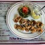 recette-plat du jour-Brochettes de crevettes marinées à la plancha