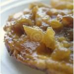 Recette de la tarte tatin pomme rhubarbe confite