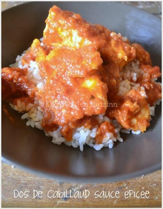 Cabillaud recette sauce épicée - poisson en sauce tomate épicée avec des crevettes