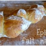 Cuisine bio, baguette epis fait maison avec de la farine bio