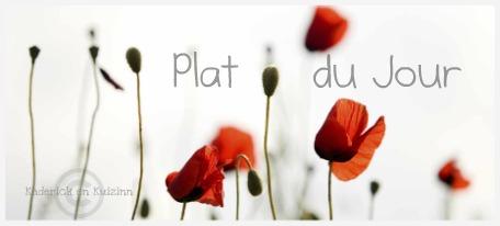 Logo du plat du jour du blog de cuisine avec des produits frais et bio