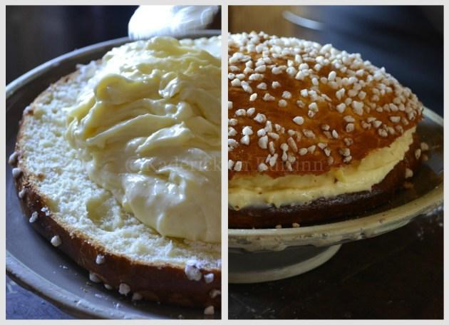 Montage de la Tarte Tropézienne-dessert