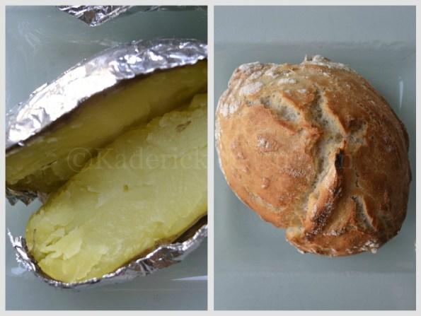 Recette-Pomme terre au four en papillote et son petit pain sans pétrissage pour Culino Versions