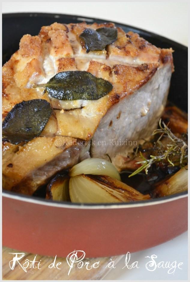 Recette du rôti de porc à la sauge-Plat du jour
