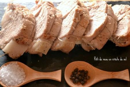 Recette et cuisson du rôti de veau en croûte de sel